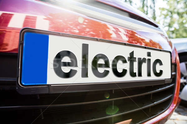 Close-up Of Car With The Text Electric Stock photo © AndreyPopov