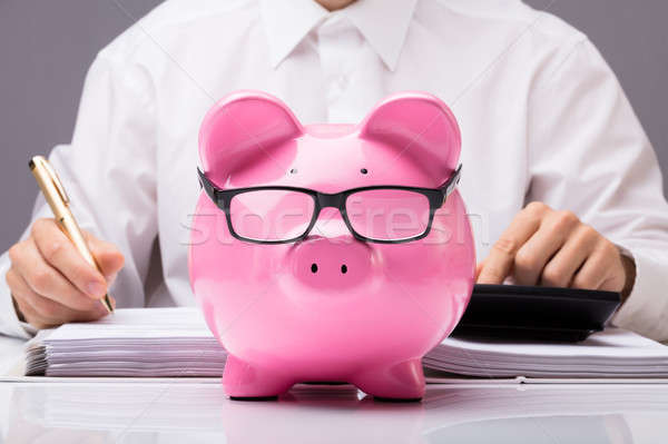 бизнесмен налоговых деньги Сток-фото © AndreyPopov