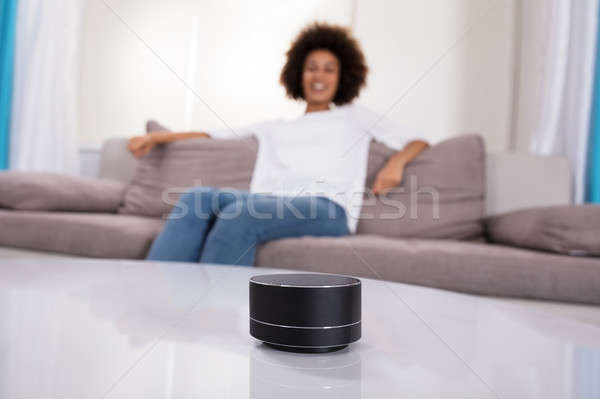 Close-up Of Wireless Speaker On Table Stock photo © AndreyPopov