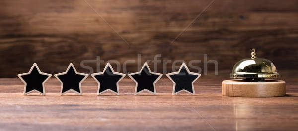 Service Bell And Five Stars Stock photo © AndreyPopov
