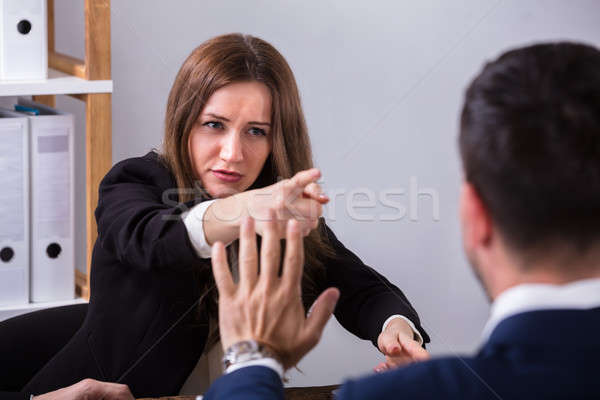 Businesswoman Scolding Her Colleague Stock photo © AndreyPopov