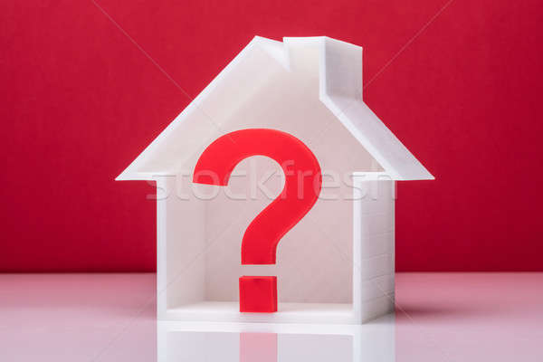 Question Mark Symbol Inside House Model Stock photo © AndreyPopov