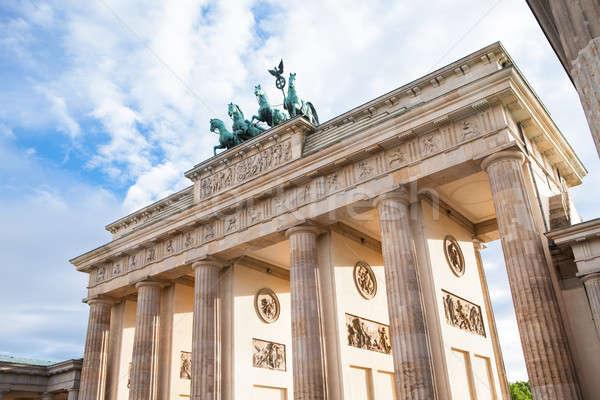 Brandenburg gate in Berlin Stock photo © AndreyPopov