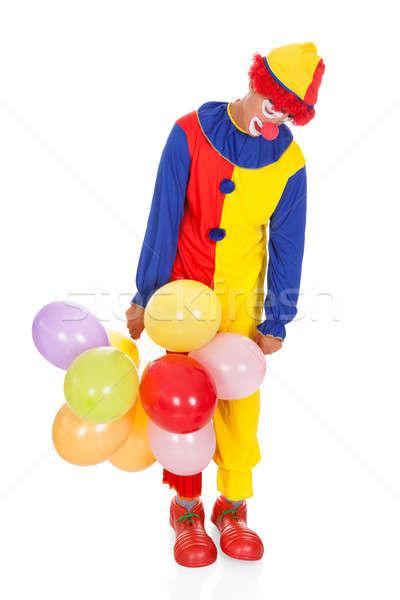 Sad Joker With Balloons Stock photo © AndreyPopov