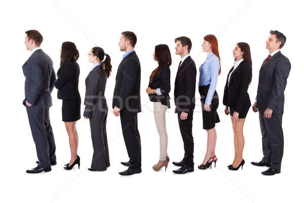 Business people standing in queue Stock photo © AndreyPopov