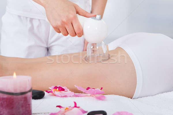Woman Getting Laser Therapy Stock photo © AndreyPopov