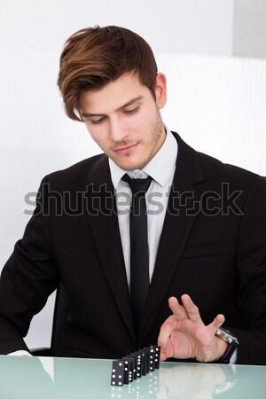 Foto stock: Empresario · jugando · guapo · negocios · hombre