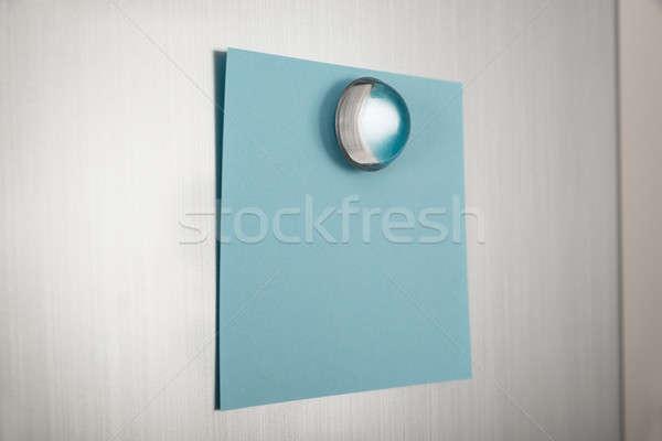 Blue Note On Fridge Stock photo © AndreyPopov
