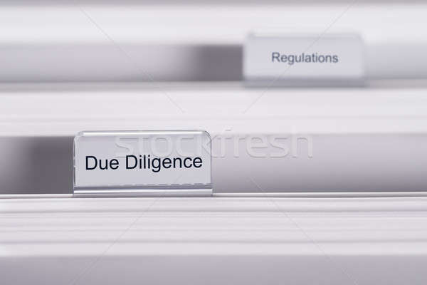 Due Diligence And Regulations Folders Stock photo © AndreyPopov