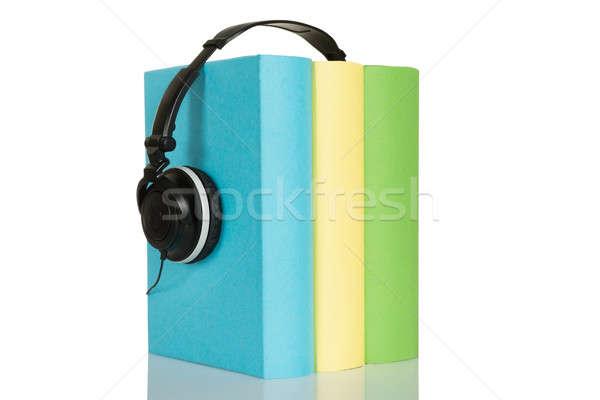 Stock photo: Audio Book With Headphone