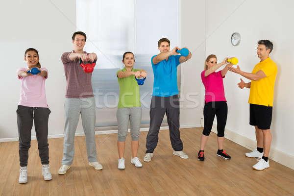 Fitness instrutor pessoas olhando Foto stock © AndreyPopov