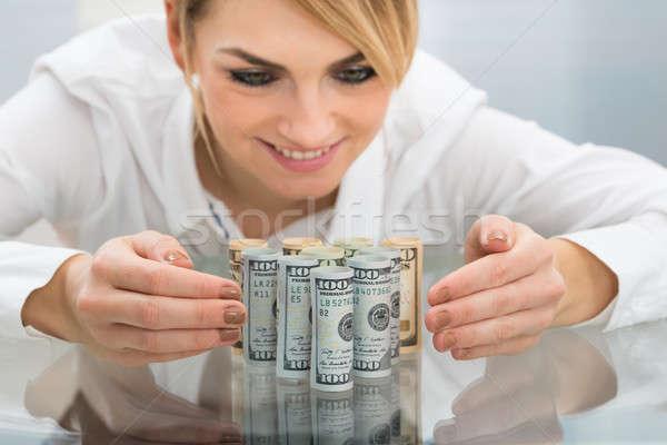 女性実業家 ドル クローズアップ 手 ストックフォト © AndreyPopov