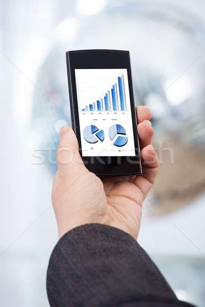 Mão financeiro gráficos imagem negócio Foto stock © AndreyPopov
