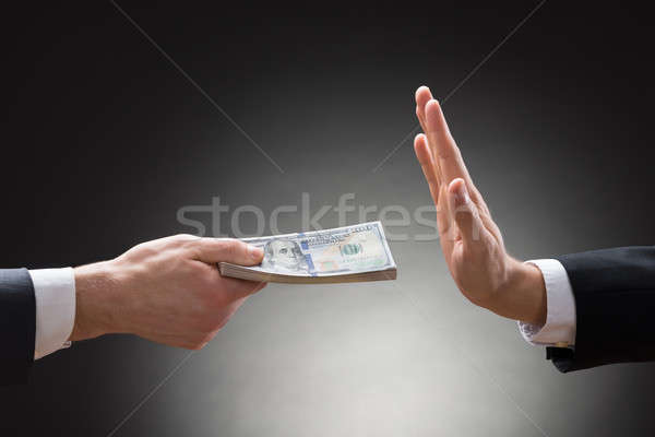 Businessman Hand Rejecting An Offer Of Money Stock photo © AndreyPopov