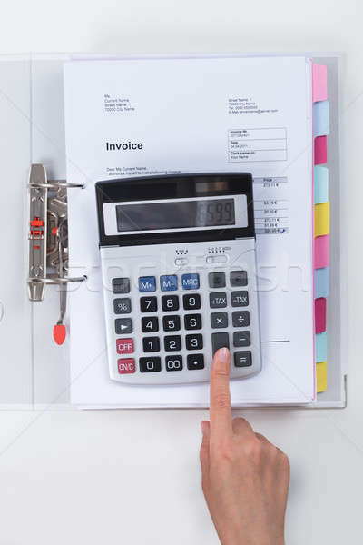Сток-фото: налоговых · калькулятор · столе · бумаги