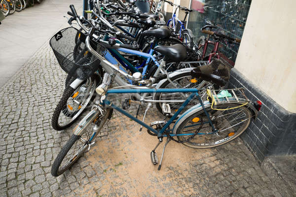 Group Of Bikes In A Parking Lot Stock photo © AndreyPopov
