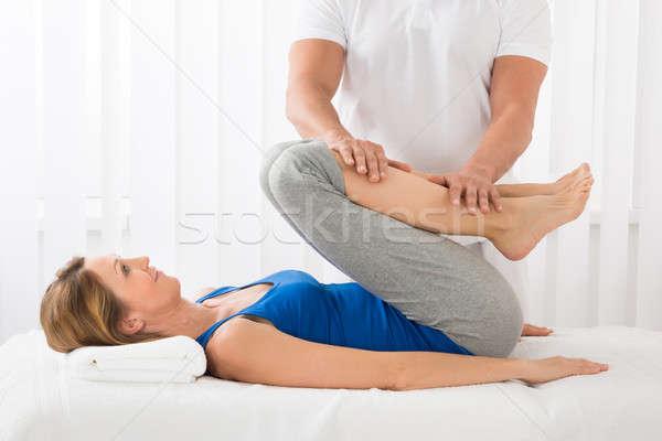 человека массаж женщину Spa Сток-фото © AndreyPopov