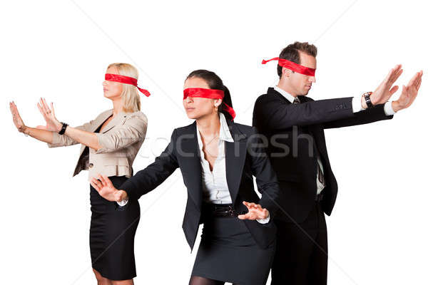 Business People In Blindfolds Stock photo © AndreyPopov