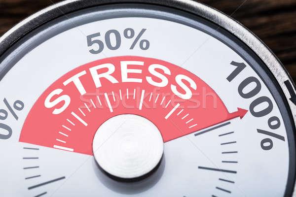 Stressz szöveg kaliber közelkép számok százalék Stock fotó © AndreyPopov