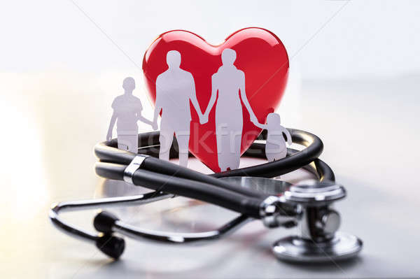 Family Cut-out And Stethoscope Stock photo © AndreyPopov