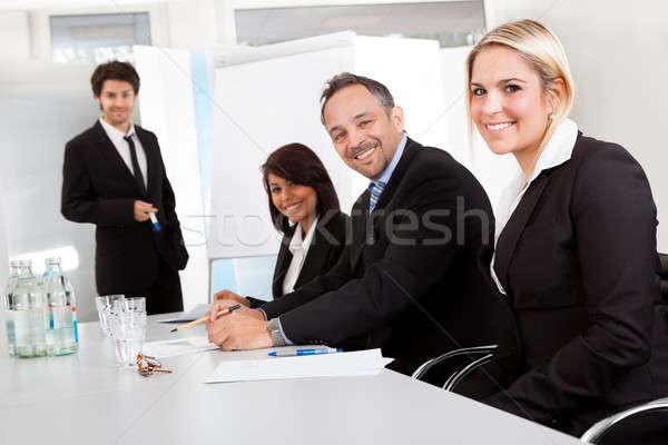 Stock fotó: Csoport · üzletemberek · bemutató · iroda · férfi · nők
