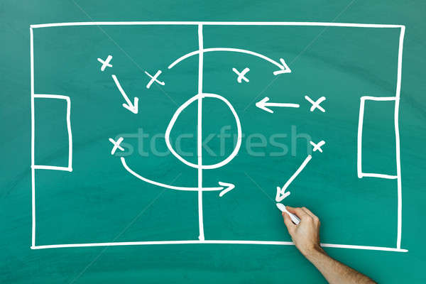 Game strategy on blackboard Stock photo © AndreyPopov