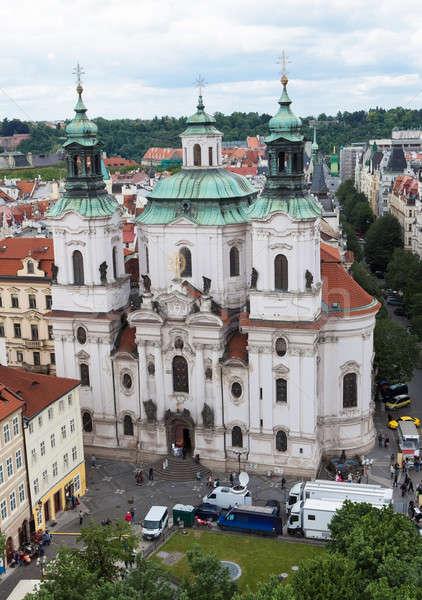 église Prague orthodoxe République tchèque maison rue Photo stock © AndreyPopov