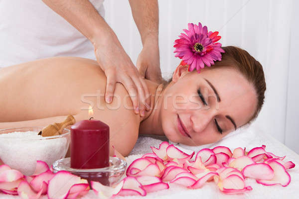 Woman getting spa treatment Stock photo © AndreyPopov