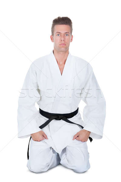 Jeune homme kimono blanche homme sport Photo stock © AndreyPopov
