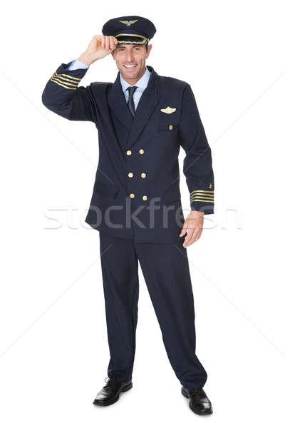 肖像 パイロット 孤立した 白 幸せ 平面 ストックフォト © AndreyPopov