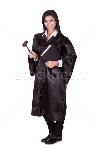 Stockfoto: Vrouwelijke · rechter · toga · portret