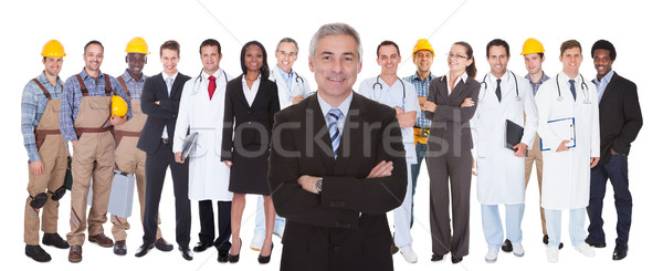 Full Length Of People With Different Occupations Stock photo © AndreyPopov