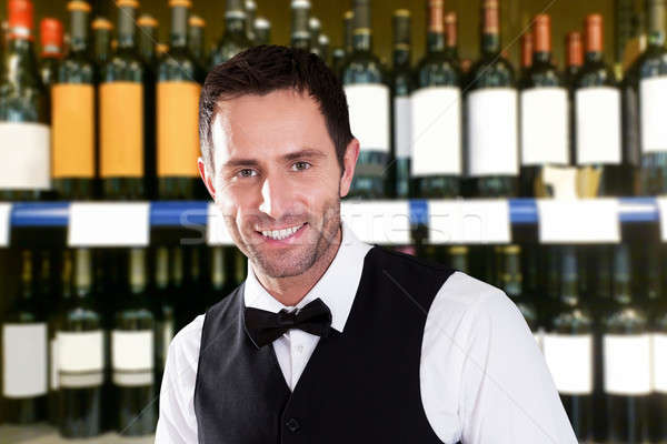 Happy Male Bartender Stock photo © AndreyPopov