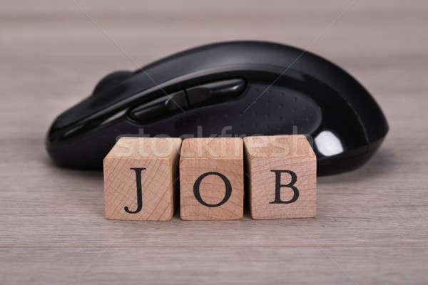 Online álláskeresés állás kockák egér internet Stock fotó © AndreyPopov