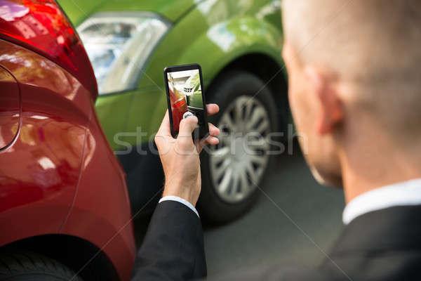 Erkek sürücü araba cep telefonu Stok fotoğraf © AndreyPopov
