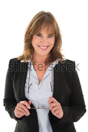 Portrait Of Happy Woman In Casuals Stock photo © AndreyPopov