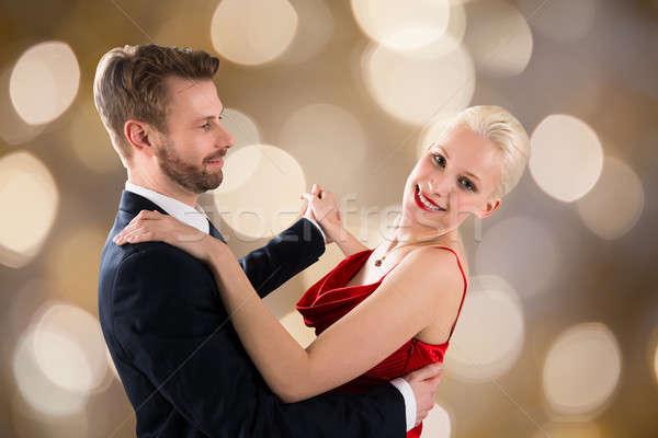 ダンス ぼけ味 肖像 小さな 幸せ ストックフォト © AndreyPopov