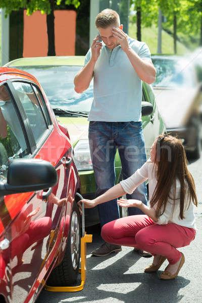 Unhappy Couple With Wheellock Stock photo © AndreyPopov