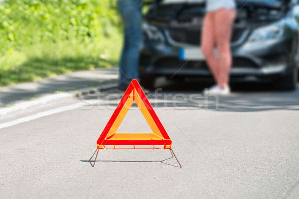 Close-up Of A Triangular Warning Sign Stock photo © AndreyPopov