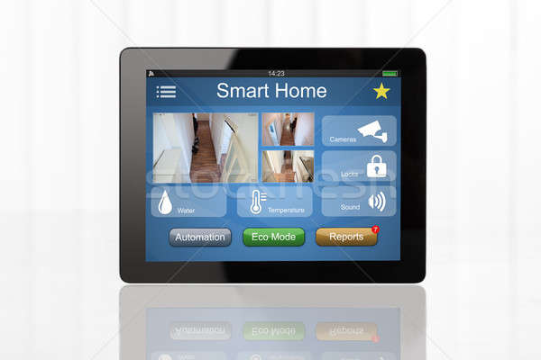 Digital Tablet Showing Home Automation System Stock photo © AndreyPopov