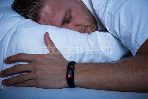 Fitness Activity Tracker With Heartbeat Rate Stock photo © AndreyPopov