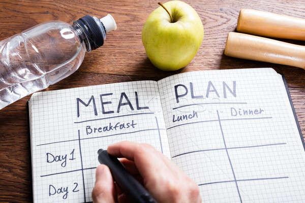 человек стороны заполнение еды плана ноутбук Сток-фото © AndreyPopov