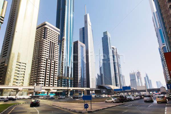 Sheikh Zayed Road Stock photo © AndreyPopov