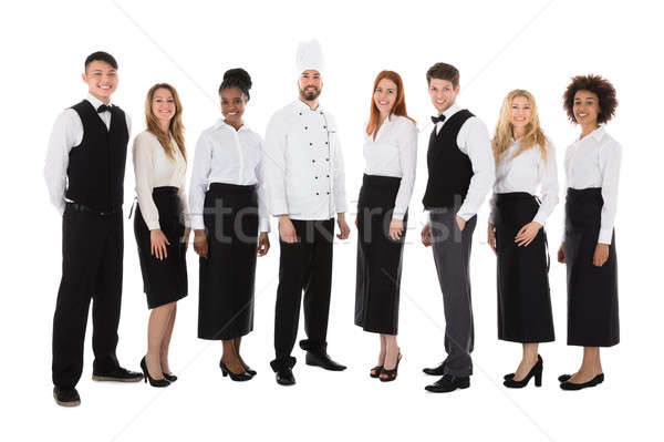 портрет ресторан сотрудников Постоянный белый женщину Сток-фото © AndreyPopov