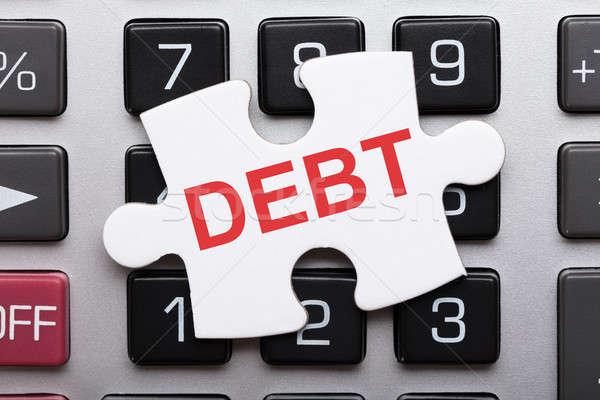 Pezzo debito testo mutui direttamente Foto d'archivio © AndreyPopov