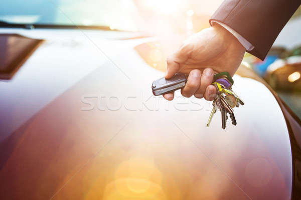 стороны пультом ключи от машины подробность открытие Сток-фото © AndreyPopov