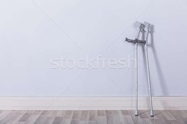 Two Crutches In Room Stock photo © AndreyPopov