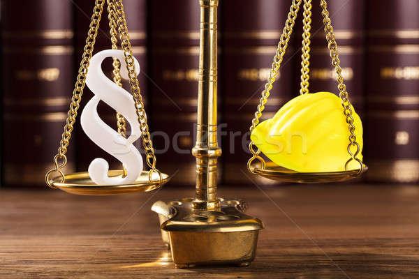 段落 シンボル ヘルメット 正義 規模 クローズアップ ストックフォト © AndreyPopov