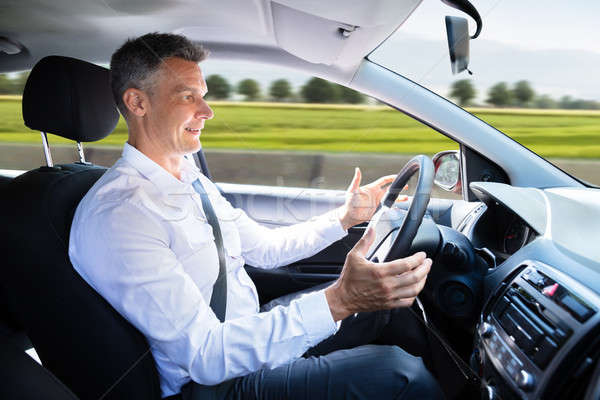 Man In Self Driving Car Stock photo © AndreyPopov
