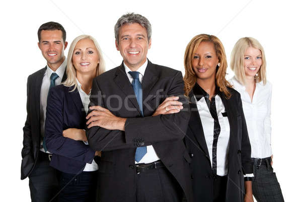 Successful business colleagues on white background Stock photo © AndreyPopov
